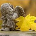 ангел с лист